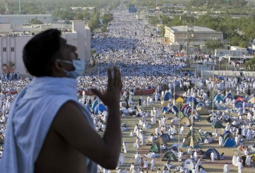 A general view is seen of Muslim pilgrims outside Mecca December 7, 2008. More than two million Muslims began the haj pilgrimage on Saturday, heading to a tent camp outside the holy city of Mecca to follow the route Prophet Mohammad took 14 centuries ago. REUTERS