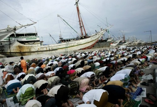 8, 2008. Indonesia, the world's most populous Muslim nation, celebrates Eid al-Adha by slaughtering goats and cows and distributing the meat to the poor. REUTERS