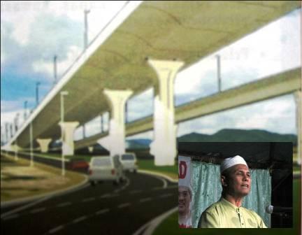 Kementerian Kewangan melalui Kementerian Kerja Raya di peringkat pusat telah memberi kontrak membina jambatan ini kepada sebuah syarikat yang dimiliki oleh Ketua Pemuda UMNO Kota Bharu dengan harga RM 150 juta.