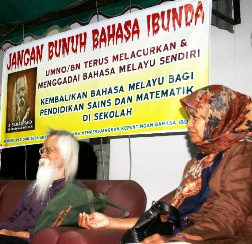 Saya menyarankan jika kita (rakyat) sayangkan bahasa kita. Jika mahu bahasa (Melayu) kita dilanjutkan dan dilestarikan. Gunakanlah undi anda (kita), gunakan undi anda.