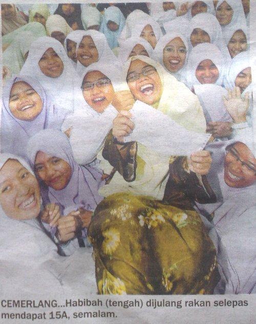 Habibah Hanan Adalah Pelajar  dari Sek Men Ugama (A) Maahad Muhammadi Perempuan Kota Bharu